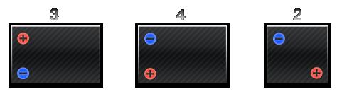 Полярность на аккумуляторах с боковыми клеммами