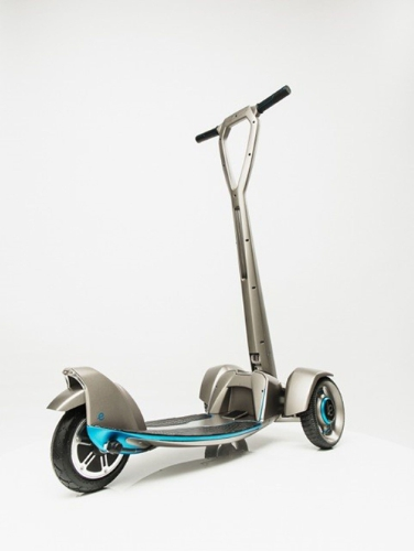 'E-floater' from Floatility - a first-of-its-kind, lightweight, solar-powered, electric scooter. The working prototype was created with Stratasys 3D printing (PRNewsFoto/Stratasys Ltd.)